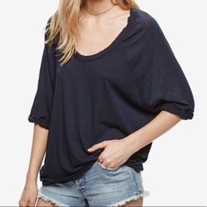 Free People We The Free Black Moonlight Tee Size S